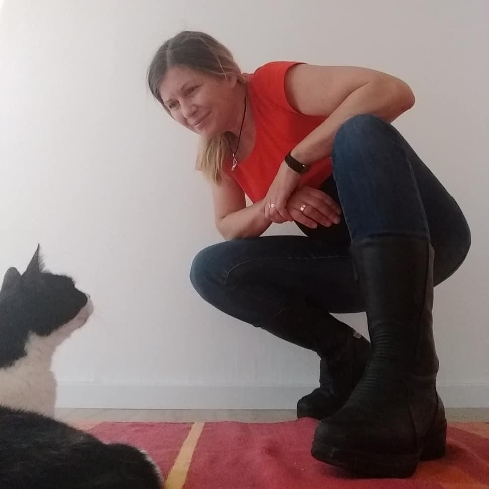 Minnie und ich (in Bikerkluft)