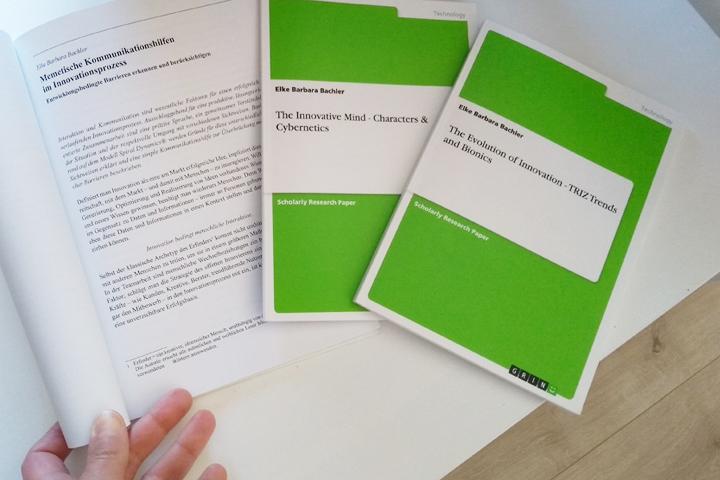 Meine beiden BAC-Arbeiten (gedruckt) und mein Fachartikel (in einer FH Campus 02 Broschüre veröffentlicht)
