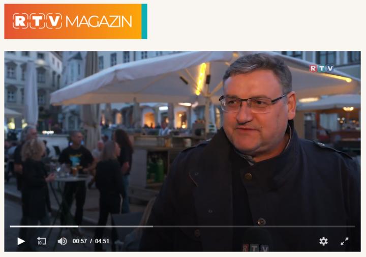 Screenshot vom RTV Beitrag mit Walter Kammerhofer