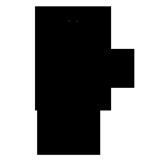 Silhouette eines Trolls mit einer Keule
